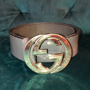 Gucci Gold Buckle Belt